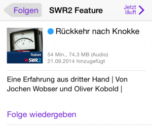 Handy-Screenshot - Podcastangebot SWR2 Feature
