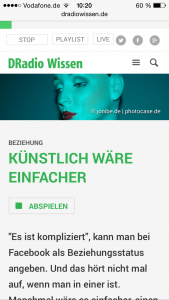 Screenshot - DRadioWissen Audio on Demand
