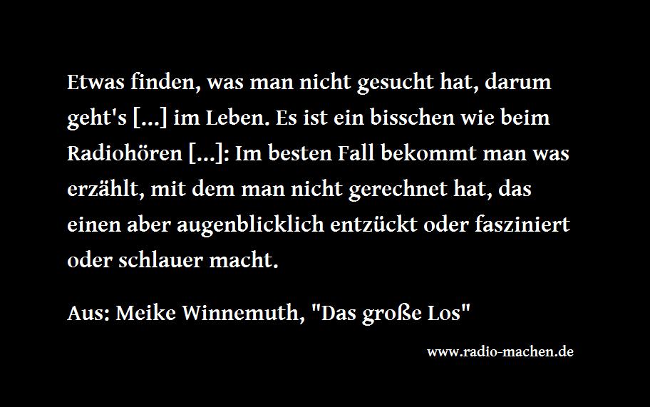 Leben = Radiohören Winnemuth
